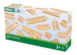 BRIO 63377200 Großes Schienensortiment 50, ab 3 Jahren, Holz und Kunststoff