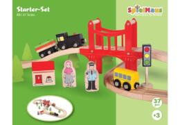 SpielMaus Holz Eisenbahn Spielset, 37-teilig