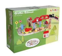 SpielMaus Holz Eisenbahn Spielset, 75 teilig