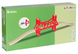 SpielMaus Holz Lange Brücke, 63,3 cm