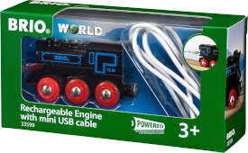 BRIO 63359900 Schwarze Akku-Lok mit Mini-USB
