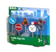 BRIO 63386400 Verkehrszeichen-Set, ab 3 Jahren, Kunststoff, mehrfarbig