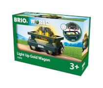 BRIO 63389600 Goldwaggon mit Licht