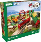 BRIO 63398400 Großes BRIO Bahn Bauernhof-Set