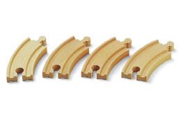 BRIO 63333700 Kurze gebogene Gleise (E1)