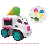 BIG Power-Worker Mini Eiswagen, Kunststoff, ca. 16x10x17, ab 2 Jahre