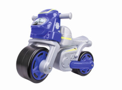 BIG Polizei-Bike, Kunststoff, ca. 67x31x46 cm, blau-silber, 18 Monate - 3 Jahre