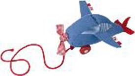 Käthe Kruse Unterwegs Nachziehtier Flugzeug