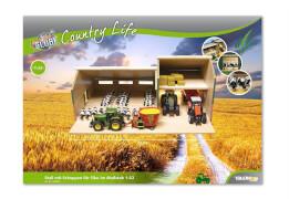 Country Life Stall mit Schuppen, für Siku geeignet