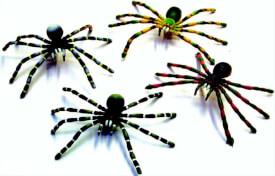 Biegefiguren Spinnen, sortiert