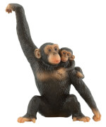 Bullyland Schimpansin mit Baby, ab 3 Jahren.