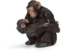 Schleich 14679 Schimpansen-Weibchen mit Baby