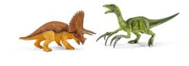 Schleich Dinosaurs - 42217 Triceratops und Therizinosaurus, klein, ab 5 Jahre