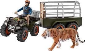 Schleich Wild Life 42351 Quad mit Anhänger und Ranger, ab 5 Jahre
