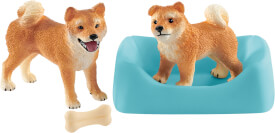 Schleich Farm World 42479 Shiba Inu Mutter und Welpe