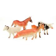 TOITOYS ANIMAL WORLD Bauernhoftiere deluxe 5 St im Beutel