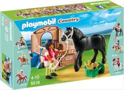 PLAYMOBIL 5519 Friese mit braun-beiger Pferd
