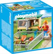 Playmobil 6140 - Hasenstall mit Freigehege, ca. 14x7x14, ab 4 Jahren