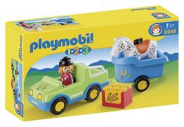 PLAYMOBIL 6958 PKW mit Pferdeanhänger