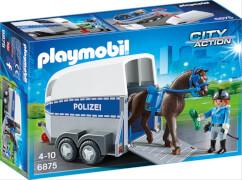 Playmobil 6875 Berittene Polizei mit Anhänger