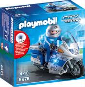 PLAYMOBIL 6876 Motorradstreife mit LED-Blinklicht, ca. 15x15x7, ab 4 Jahren