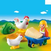 PLAYMOBIL 6965 Bäuerin mit Hühnern
