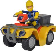 Simba Feuerwehrmann Sam - Mercury-Quad inkl. Zubehör, Kunststoff, ca. 7x9x13 cm, ab 3 Jahre