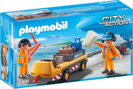 Playmobil 5396 Flugzeugschlepper mit Fluglotsen