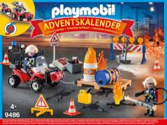 PLAYMOBIL 9486 Adventskalender ''Feuerwehreinsatz auf der Baustelle''