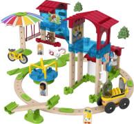 Mattel GGV82 Fisher-Price Wunder Werker Schule mit Spielplatz