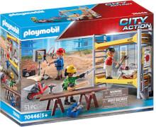 PLAYMOBIL 70446 Baugerüst mit Handwerkern