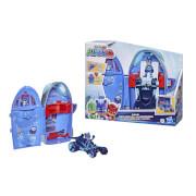 Hasbro F20985L0 PJ Masks 2-in-1-Hauptquartier Spielset, Hauptquartier und Rakete, Spielzeug für Kinder ab 3 Jahren, enth