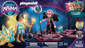 PLAYMOBIL 70803 Crystal Fairy und Bat Fairy mit Seelentieren