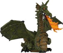 Papo 39025 Feuerspeiender Drache mit Flügeln, grün