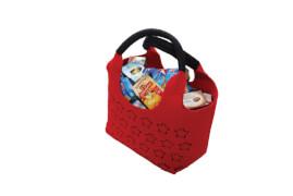 Filztasche gefüllt mit Miniaturschachteln