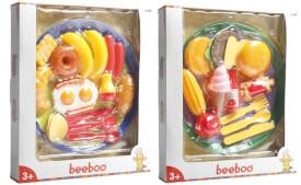 Beeboo Kitchen Schlemmer-Set mit Teller, 2-fach sortiert, Kaufläden & Zubehör, ca.  26x49x27 cm, ab 3 Jahren (nicht frei wählbar