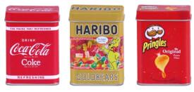 0056.6 Metalldosen Set Haribo, Coca Cola und Pringles