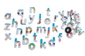 Scratch - Magnete 60 Buchstaben Stadt