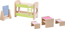 HABA - Little Friends - Puppenhaus-Möbel Kinderzimmer für Geschwister