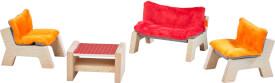 HABA - Little Friends - Puppenhaus-Möbel Wohnzimmer