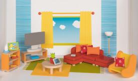 GoKi Puppenmöbel  Wohnzimmer