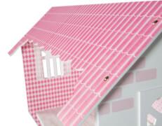 roba Puppenvilla für Ankleidepuppen, weiß/rosa