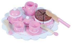 Kaffee und Teeservice mit Kuchen
