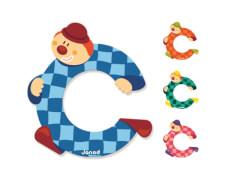 Buchstaben Clown C