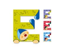 Buchstaben Clown E