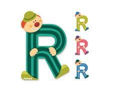 Buchstaben Clown R