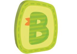 HABA Holzbuchstabe B