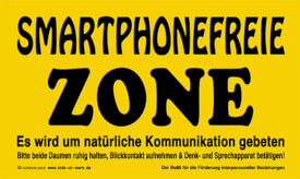 CORVUS Kids at Work Schild Smartphonefreie Zone