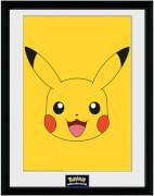 Druck mit Rahmen Pikachu II (30 x 40cm)