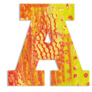 A - Peacock Holzbuchstaben